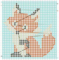 Alpha friendship bracelet pattern added by neopets. Pet Fox, Alpha Patterns, Friendship Bracelet Patterns, Plastic Canvas Patterns, Beading Patterns, Fox Animal, Projects To Try, Cross Stitch, Pets