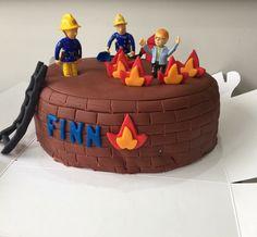 Fireman Sam birthday cake for kids 3rd birthday