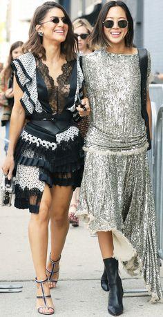 Street Style ~Camila Coelho & Aimee Song NYFW Spring '18.