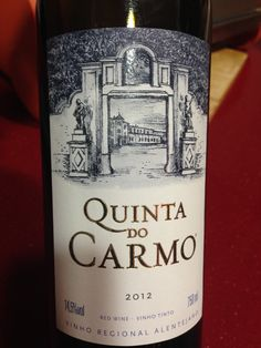 Quinta do Carmo, Red 2012, Alentejo (Aragonez, Alicante Bouchet , Trincadeira, Cabarnet Sauvignon) Spanish Wine, Red Wines, French Wine, Wine Cheese, Wine Labels, Wine Time, Wineries, Wine Recipes, Whisky