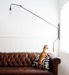 #DIY Jean Prouvé Potence-Inspired Swing-Arm Lamp