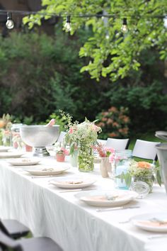 Garden party, tablesetting