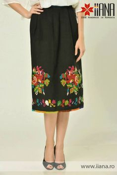 Folk Romanian skirt modern interpretation