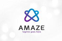 Amaze Letter A Logo Template by gunaonedesign on Logo Design Inspiration, Icon Design, Design Ideas, Business Brochure, Business Card Logo, Logo Design Template, Logo Templates, Site Website, Letter Form