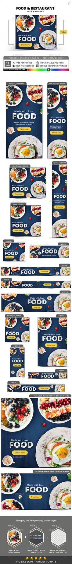 Food & Restaurant Banner Set