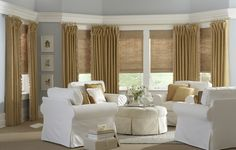 View our collection of designer window treatments and custom window coverings for your home. - Check Out THE PIC for Many Ideas for Unique Window Treatments. Interior Design, Sunroom Blinds, Eclectic Curtains, Window Styles, Budget Blinds, Woven Shades, Custom Window Coverings, Sunroom Window Treatments, Home Decor