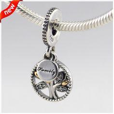 Beads Fit for Pandora bracelets Newest 925 Sterling silver charms with 14K Gold Jewelry European Style DIY Making FL12263K www.bernysjewels.com #bernysjewels #jewels #jewelry #nice #bags