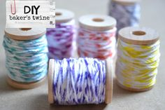 DIY Baker's Twine. Genious! I'll do it today. I should order some more Sharpies, since I have only 4 colors.