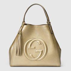 Gucci Soho metallic leather shoulder bag