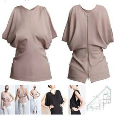 .interesting blouse with falling sleeves - pattern