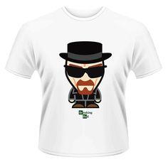 Camiseta Walter White Minion. Modelo 3. Breaking Bad Bonita camiseta con el diseño de estilo Minion del protagonista Walter White visto en la exitosa serie de TV Breaking Bad 100% oficial, licenciada y fabricada en material 100% algodón.