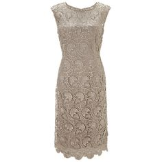Buy Gina Bacconi Modern Floral Guipure Dress, Beige Online at johnlewis.com