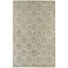 Art of Knot Fayette Wool Area Rug, White