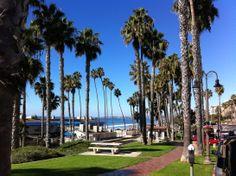 Pier park and ocean in San Clemente (California Travel)