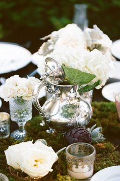 Romantic tea service inspired...this is soooo me! My family even has those same goblets.