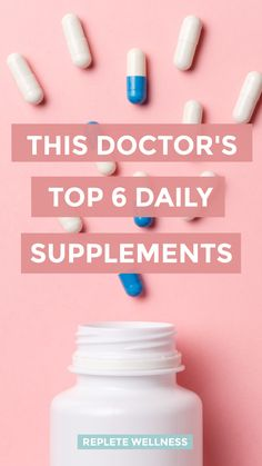 The right supplements can be a critical piece of the puzzle when it comes to achieving optimal health. Check out the supplements that this top integrative medicine doc takes every day to stay energized and healthy. Top Supplements, Antioxidant Supplements, Anti Aging Supplements, Dr Sarah, Diet Diary, Nutritional Requirements, Skin Elasticity, Natural Medicine, Sarah White