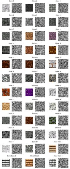 ACNL QR Code: Stone Tiles (If too small, use download link at right of the page for full resolution.) 1 of 3