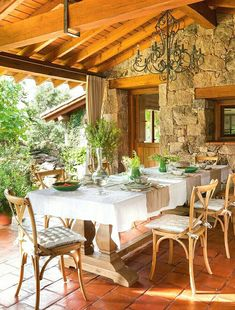 Rustic Home Decor .Rustic Home Decor Outdoor Decor, House Design, Outdoor Dining Room, House, Outdoor Kitchen Design, Stone Houses, Outdoor Dining Spaces, Outdoor Kitchen, Rustic House