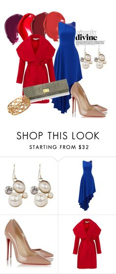 """A Splash of Color"" by sincerely-paige-online on Polyvore featuring Halston Heritage, Christian Louboutin and Keepsake the Label"