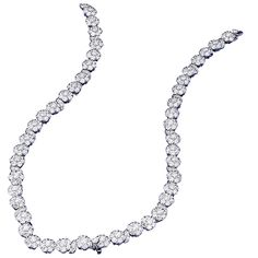 Van Cleef & Arpels Diamond Gold Cluster Necklace Converts to Bracelets Choker | From a unique collection of vintage drop necklaces