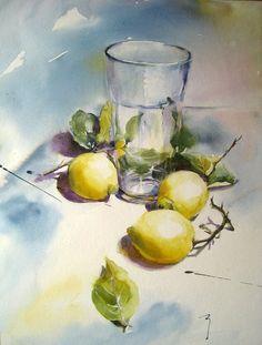 New fruit artwork watercolour artists Ideas Watercolor Fruit, Fruit Painting, Watercolor Artists, Watercolor Landscape, Watercolor And Ink, Watercolor Flowers, Watercolour Paintings, Watercolors, Painting & Drawing