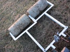 Homemade ATV implements (another new project added - Page 2 - Georgia Outdoor News Forum Landscaping Equipment, Lawn Equipment, Garden Tractor Attachments, Atv Attachments, Small Garden Tractor, Grass Seed Types, Lawn Soil, Tractor Plow, Homemade Tractor