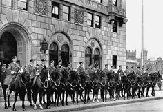 Historical Photo of the Boston Police Department Mounted Unit.