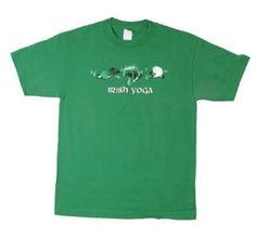 St. Patrick's Day Irish Yoga Green Tee T-Shirt #holiday #stpattysday #stpatricksday