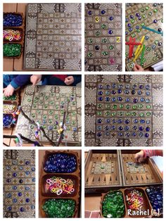 """Patterns on a game board from Rachel ("""",)"""