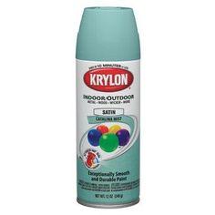 Krylon 53529 Catalina Mist 'Satin Touch' Decorator Spray Paint - 12 oz. Aerosol by Krylon, http://www.amazon.com/dp/B0038DCKY0/ref=cm_sw_r_pi_dp_jBjhrb1ZT81VW