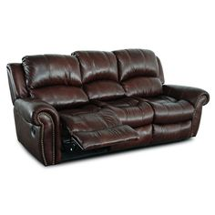 Gretna Leather Reclining Sofa