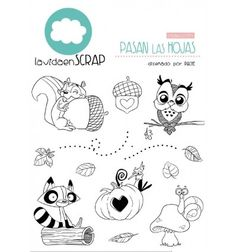 Pasan las hojas Washi, Ink Stamps, Creative Outlet, Doodle Drawings, Kawaii, Digital Stamps, Clear Stamps, Cartoon Art, Coloring Pages