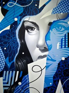 "Incredible paintings by LA-based artist Tristan Eaton.  ""One look at Eaton's work and you can immediately see a collage of influences, and he has always sought to represent this visual language that he loves in a single piece.""  His work can be seen in galleries around the world and in the permanent collection of the New York Museum of Modern Art (MOMA).  More art on the grid via Hi-Fructose"