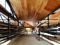 WMS Boathouse at Clark Park Architect: Studio Gang Architects Owner: Chicago Park District; Chicago Rowing Foundation Location: Chicago
