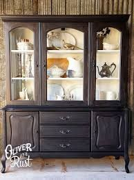Oliver and Rust General Finishes Milchfarbe Lampe Schwarz - New Best Decor Refurbished Furniture, Paint Furniture, Repurposed Furniture, Dining Room Furniture, Furniture Projects, Furniture Makeover, Diy Projects, Painted China Hutch, Furniture Restoration