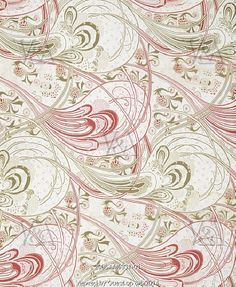 Printed Cotton furnishing fabric by Christopher Dresser, and printed by Steiner & Co. Roller-printed cotton. Lancashire, England, 1899. #Art Noubeau  © Victoria and Albert Museum, London