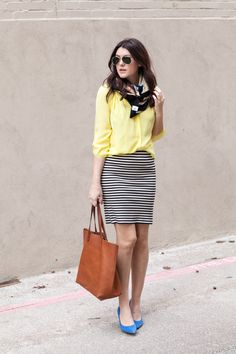tee shirts and pencil skirts | Since I'm new to the striped-pencil-skirt world, I had to consult ...
