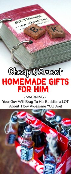 My boyfriend would LOVE these cute homemade gift ideas - and they look super easy to make too! #valentinesday #diyideas #valentinesdaygift #valentinesdiy #diyproject #valentinesdaydiy #easyvalentinesdayDIY #easyvalentinesdaygift #romanticgiftideas #valentinesgiftforhim #giftideasforhim #giftideas #relationshipgoals #lifehacks #diycrafts #valentinesideasforboyfriend