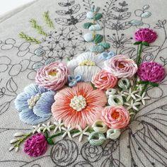 #embroiderydesign #stitch #handembroidery #handmade #스티치도안작업 #프랑스자수배우기 #꽃다발