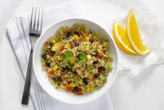 Enjoy this low fat salad featuring whole wheat couscous with garbanzo beans, red onion, tomatoes, cucumber and mint, with a lemon and olive oil dressing. Cucumber Appetizers, Appetizer Salads, Couscous Salad Recipes, Couscous How To Cook, Easy Weekday Meals, Rice Cooker Recipes, Light Appetizers, Thing 1, Big Meals