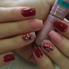 Quer Aprender as Melhores Técnicas de Manicure? Acesse e Clique no Link Azul da BIO . Edgy Nail Art, Edgy Nails, Toe Nail Art, Swag Nails, Toe Nails, Acrylic Nails, Red Nail Designs, Simple Nail Designs, Nail Polish Designs