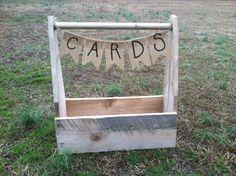 Rustic wedding card box, rustic wedding decor, barn wedding, country wedding, centerpiece on Etsy, £37.50