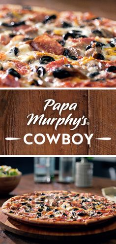 Every Cowboy pizza starts with fresh dough, our herb and cheese blend and the best toppings – so you can in your oven for an instant classic. Menu Items, Pizza Dough, Pizza Recipes, Casseroles, Herb, Meal Planning, Beach House, Oven