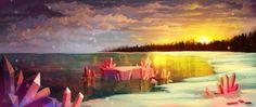 Море кристаллов Objects, Painting, Art, Black People, Art Background, Painting Art, Kunst, Paintings, Performing Arts