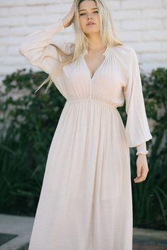 Linda V-Neck Smocked Detail Maxi Dress Dresses Wishlist