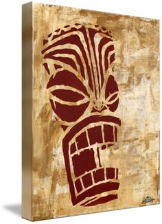 """""""Tiki"""" by Christopher Bonnette, Rosemead, CA // Tiki (tik, ti'i, ki'i, Moai, tikis) (Acrylic and spray paint on panel)Tiki comes from Polynesian folklore. Tiki can be found in New Zealand, Cook Islands, Tahiti, Hawaii and many other places in the Pacific. Specifically in Maori mythology Tiki is the first man. Tiki is usua... // Imagekind.com -- Buy stunning fine art prints, framed prints and canvas prints directly from independent working artists and photographers."""