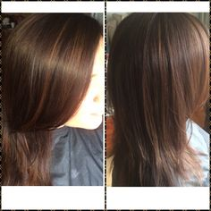 balayage ..natural sun kissed highlights ... Brown hair with Caramel highlights ... Medium length hair ..layers
