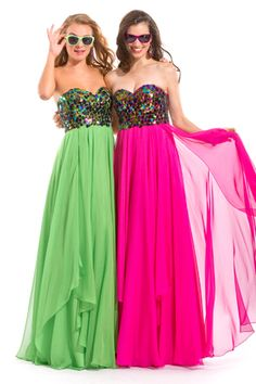 Strapless Sweetheart Long Gown and look the top.