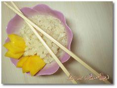 Receta de arroz con leche de coco y mango y mi viaje a Tailandia http://www.lagrutadulce.com/lagrutadulce/arroz-con-leche-de-coco-y-mango-o-arroz-pegajoso-thai-y-mi-viaje-tailandia