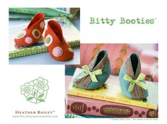 Baby-Booties-{free pattern}-no-sew-felt-DIY-how-to